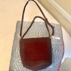 NWT Old Navy maroon purse